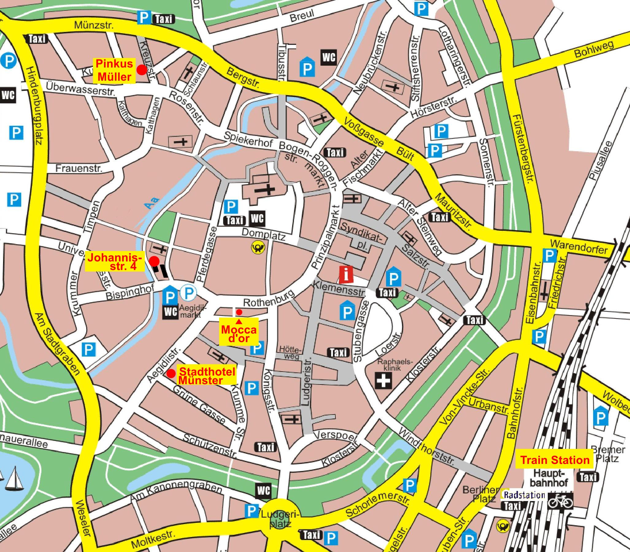 City map Münster